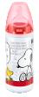 Snoopy láhev First Choice 300ml silikon (6-18 měsíců) - Červená
