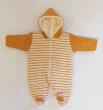 Zimní kombinéza zateplená pruh OKROVÁ wellsoft Baby Service