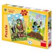 Puzzle Krtek na Mýtině 2x48 dílků v krabici