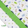 Látkové pleny, zelení krokodýli - TOP KVALITA 70 x 70 cm