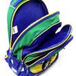 Školní batoh Goal - Zeleno-modrý nezobra