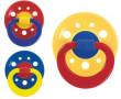 Dudlík latex kulatý barevný velký vel.3 BABY NOVA - Žlutý