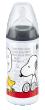 Snoopy láhev First Choice 300ml silikon (6-18 měsíců) - Černá