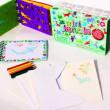 Meadow Kreslicí šablony s pastelkami mini box