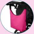 Taška na kočárek SIMPLY BAG Ivema Baby - Tmavě růžová