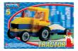 Stavebnice Cheva 5 Traktor s vlekem 84ks v krabici nezobra