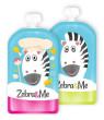 Kapsička na dětskou stravu pro opakované použití Zebra&Me 2 ks - Zebra + kuchařka