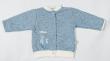 Teplejší kabátek melírek modrý Baby Service