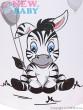 Termoobal Mini New Baby Zebra bílá
