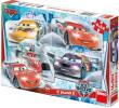 Puzzle Cars na ledě 20x13cm 4x54 dílků v krabici 33x23x3,5cm