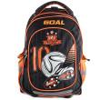 Školní batoh trolley Goal - 3D nášivka kopačky s fotbalovým míčem - číslo 10