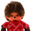 Plyš Monchhichi - Chlapeček v červeném tričku