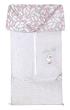 Fusak 2v1 BARY bavlna Emitex - Šedý melanž + pírka růž