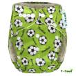 Bambusová kalhotková plena All in One + 2 bambusové vkládací pleny - Zelená - fotbal