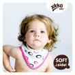 Bambusový dětský slintáček/šátek Kikko - Magenta Bubbles