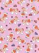 Náhradní potah na lehátko do vaničky bavlna Péťa - Růžové s pejsky