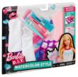 Barbie D.I.Y akvarelové návrhářství DWK52 Šaty pro panenky - Růžovo-tyrkysové