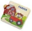 Knížky dřevěné 3 druhy - Farma