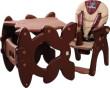 Židlička CARETERO Primus hnědá