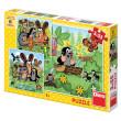 Puzzle Krtek a zvířátka 3x55dílků v krabici