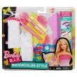 Barbie D.I.Y akvarelové návrhářství DWK52 Šaty pro panenky - Růžovo-žluté