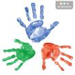 Barva na otisky dětských ručiček a nožiček do fotoalb, deníčků a rámečků - Zelená
