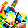 Meadow Sada pěnových hraček do vany Stavební stroje