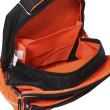 Školní batoh Goal - 3D nášivka kopačky a fotbalového míče - černo-oranžový I.