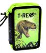 Školní penál 3patrový prázdný T-rex nezobra