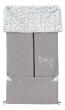 Emitex letní, jarní, podzimní fusak 2v1 fleece + bavlna Fanda - Sv. šedý + peříčka mento