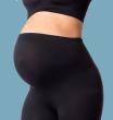 Těhotenské legíny s podpůrným pásem ČERNÉ