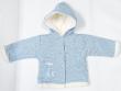 Zimní kabátek s kapucí wellsoft zateplený melírek modrý Baby Service - Vel. 56