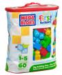 Mega Bloks Kostky v plastovém pytli 60 dílů