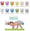 Svrchní kalhotky Thirsties duowrap vel. 1 (3-8kg)