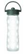 Lifefactory láhev s brčkem 475ml - Transparentní