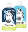 Kapsička na dětskou stravu pro opakované použití Zebra&Me 2 ks - Zebra + kosmonaut