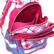 Školní batoh Hello Kitty - Růžovo-modré kostky