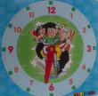 Výukové papírové hodiny 21x21cm ČTYŘLÍSTEK