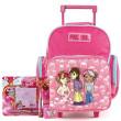 Školní batoh Cool trolley set - 4-dílná sada - růžová + doplňky Winx