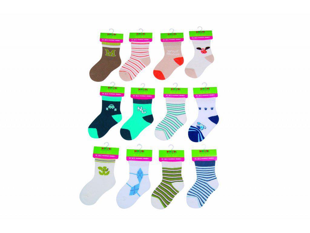 Pidilidi Kojenecké ponožky chlapecké PD0505 12 - 18 měs.