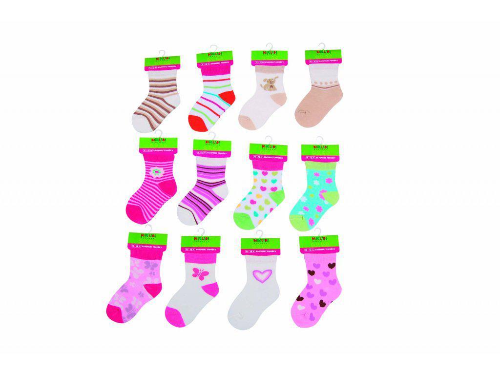 Pidilidi Kojenecké ponožky dívčí PD0505 12 - 18 měs.