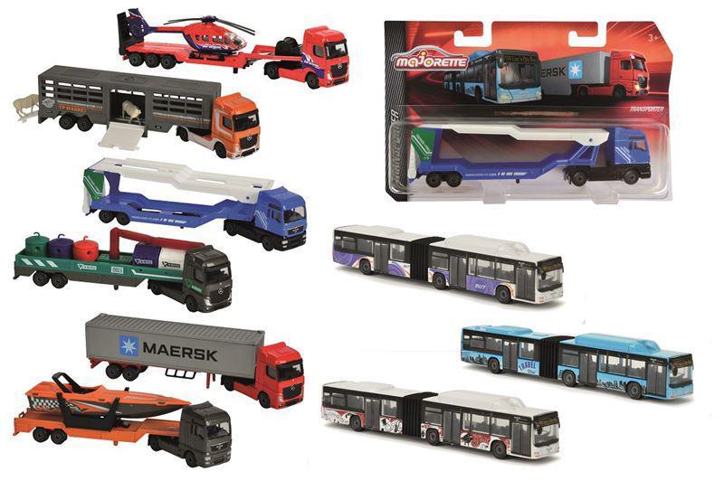 Majorette Autobus nebo nákladní auto, kovové