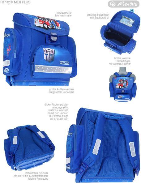 ... Školní batoh Herlitz Midi Transformers Optimus Prime modrý vybavený - nezobra a49a12235f