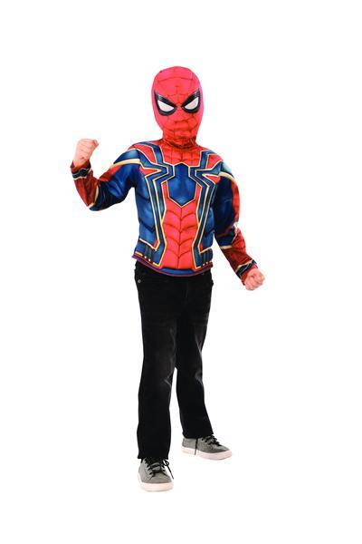 Rubies Kostým Spiderman -Avengers-Infinity War triko s vycpávkami a maska