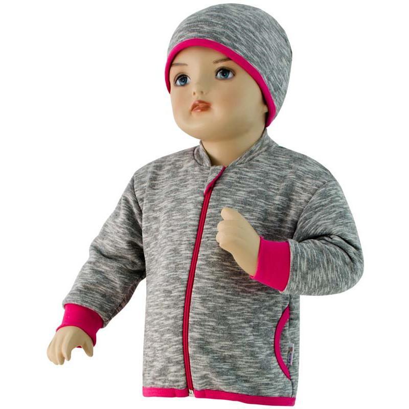 ... Dětská mikina David Esito šedá + růžová 26aaac45b8