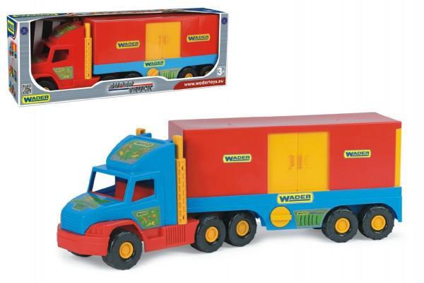 Wader Auto Super Truck kontejner plast 78cm