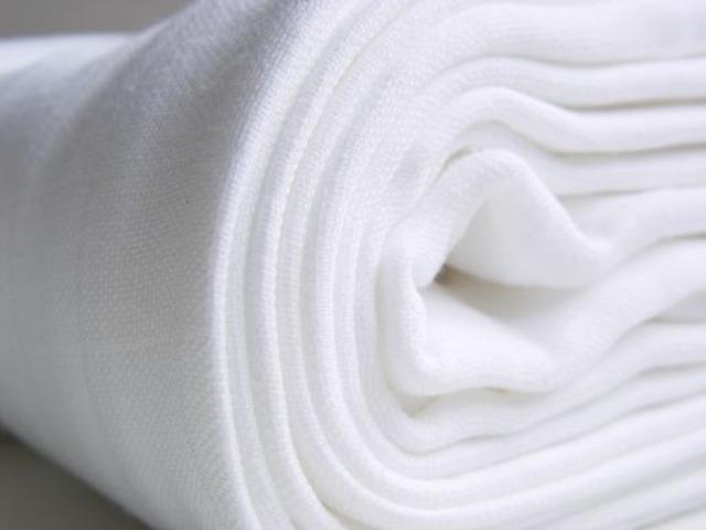 Kikko Bavlněné dětské pleny 70x70 - bílá 10 ks