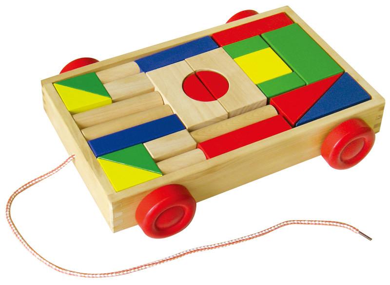Studo Wood Dřevěný vozík s kostkami