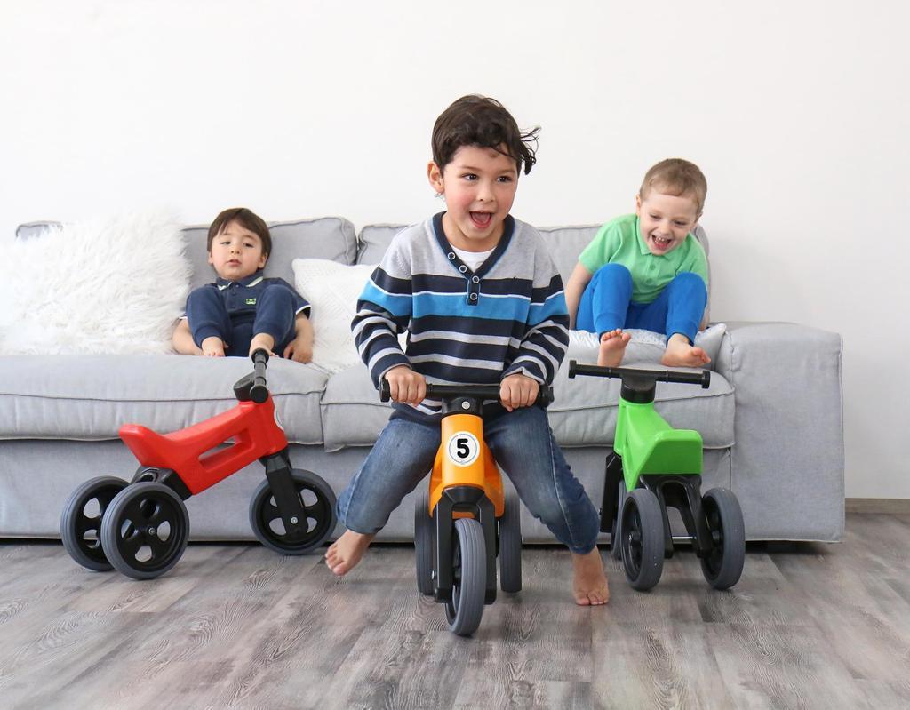Teddies Odrážedlo Funny Wheels Sport 2v1 s gumovými koly