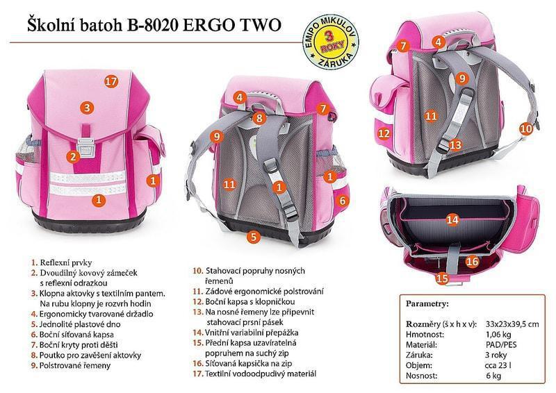 Školní batoh ERGO TWO 0f4ea47e22